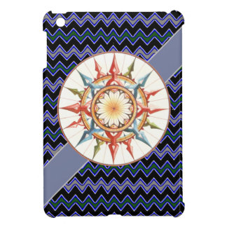 compass rose, chevron cover for the iPad mini