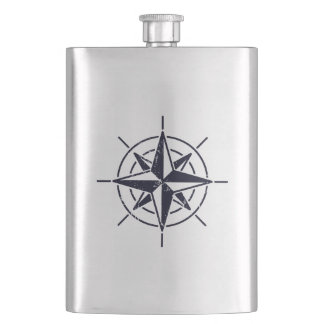 Compass Rose Classic Flask