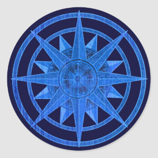 Compass Rose Classic Round Sticker