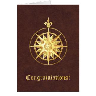 Compass Rose Congratulations Card