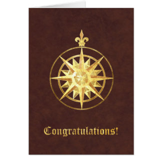 Compass Rose Congratulations Greeting Card