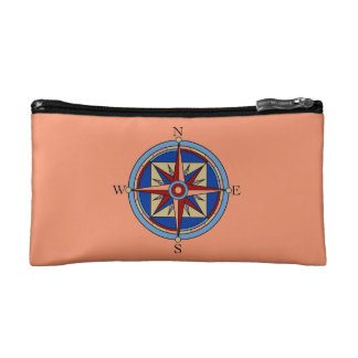 Compass Rose Cosmetic Bag