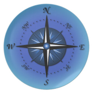 Compass Rose Dinner Plate