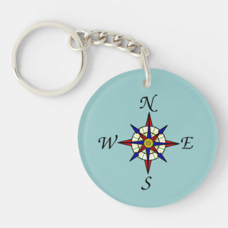 Compass Rose Key Chain