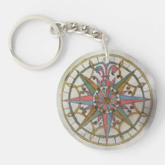 Compass Rose Keychain
