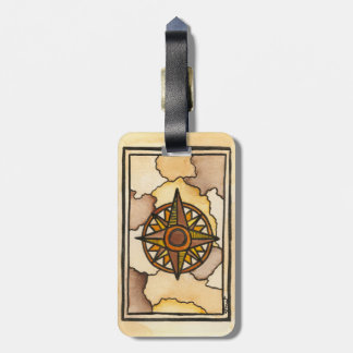 Compass Rose Luggage Tag