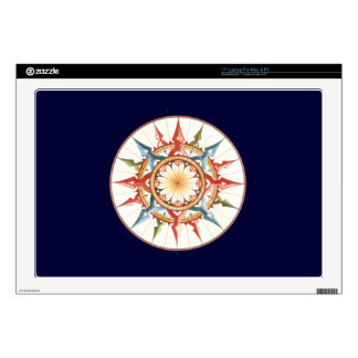 """compass rose - mandala decals for 17"""" laptops"""