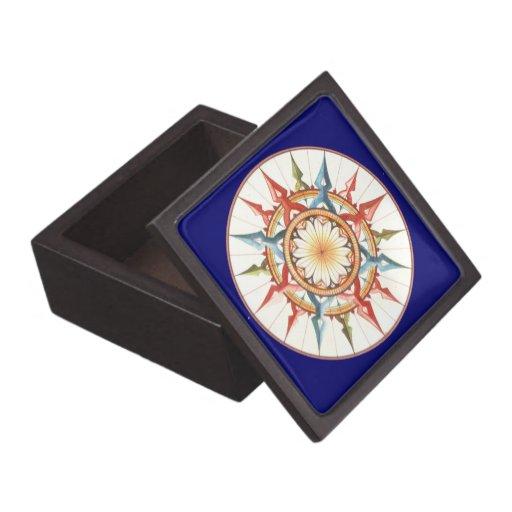 compass rose - mandala premium trinket boxes