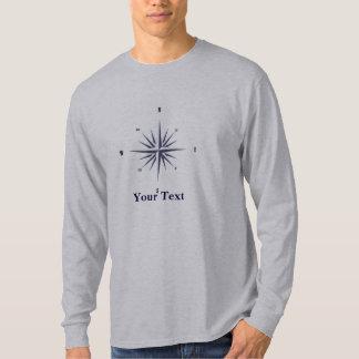 Compass Rose Mens Long Sleeve T-Shirt