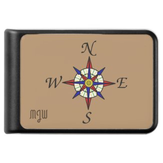 Compass Rose Monogrammed
