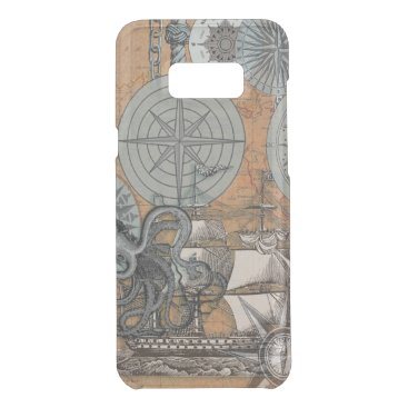 Beach Themed Compass Rose Nautical Art Print Ship Octopus Get Uncommon Samsung Galaxy S8 Plus Case