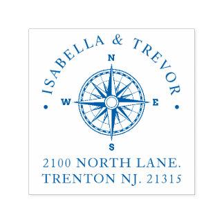 Compass Rose Nautical | Return Address Self-inking Stamp