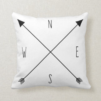 Compass Rose - North South East West Arrows Pillows