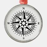 Compass rose ornament