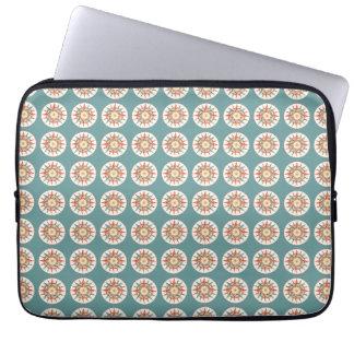 compass rose pattern laptop sleeve