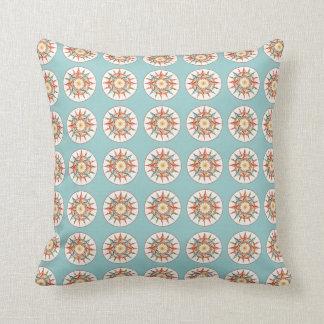 compass rose pattern throw pillow