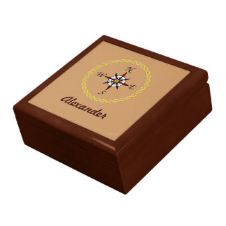 Compass Rose Personalized Gift Box
