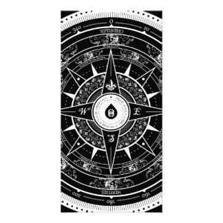 Compass Rose - Photocard (Black) Card