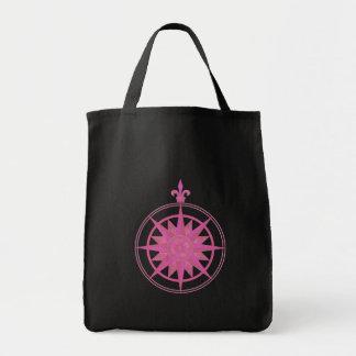 Compass Rose Pink Tote Bag