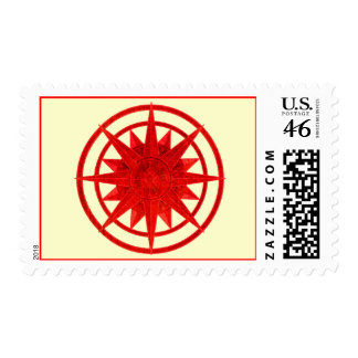 Compass Rose Postage Stamps