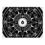 Compass Rose - Postcard (Black)
