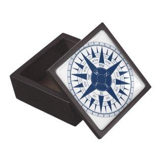 Compass Rose Premium Jewelry Box