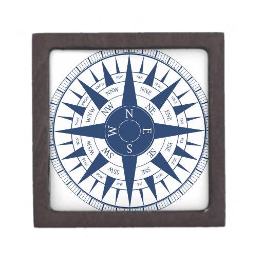 Compass Rose Premium Keepsake Boxes