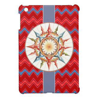 compass rose, red chevron iPad mini covers