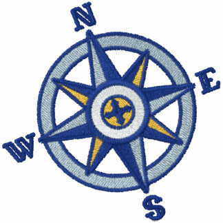 Compass Rose Sailing Embroidered Polo Shirt