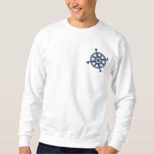c9f114bbbe920 Compass Rose Sailing Embroidered Sweatshirt