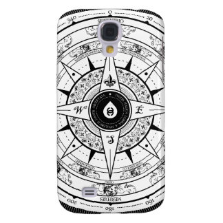 Compass Rose - Samsung Galaxy S4 Case (White)