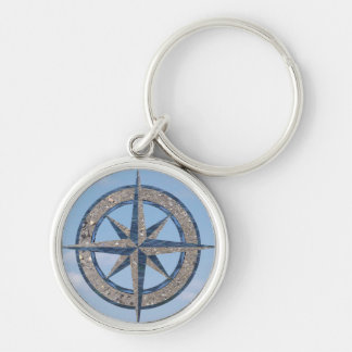 Compass Rose (Sand, Water, Sky) Keychain