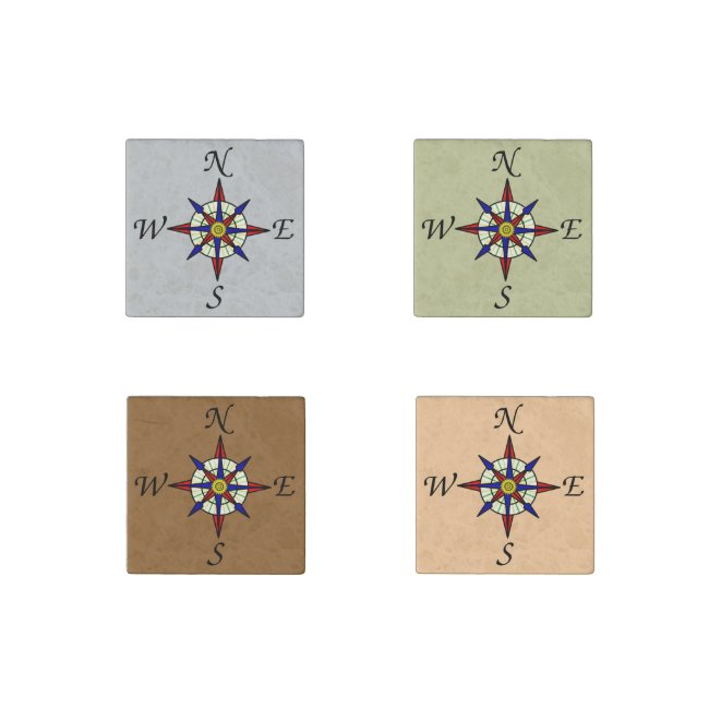 Compass Rose Set on Neutrals