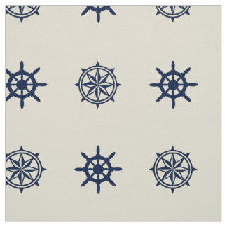 Compass Rose Ship Wheel pattern fabric