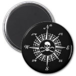 Compass Rose Skull 1 2 Inch Round Magnet