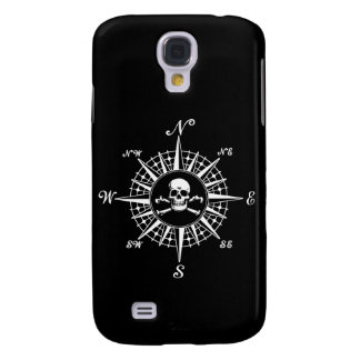 Compass Rose Skull 1 Galaxy S4 Cases