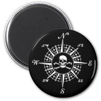 Compass Rose Skull 1 Magnet