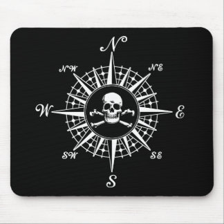 Compass Rose Skull 1 Mouse Pad
