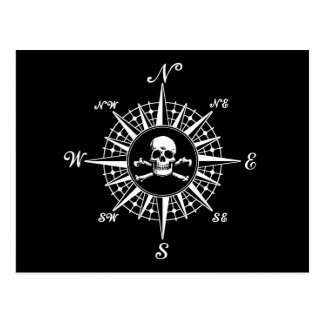 Compass Rose Skull 1 Postcard