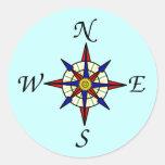 Compass Rose Sticker