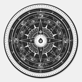 Compass Rose - Sticker (Black)