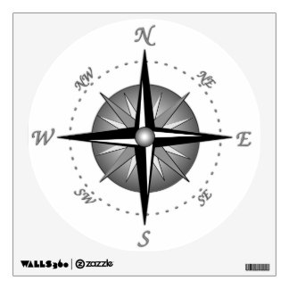 Compass Rose Wall Stickers