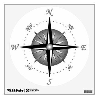 Compass Rose Room Sticker