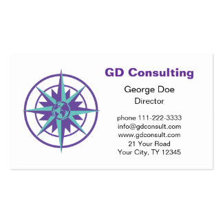 Compass Rose with Globe Business Card