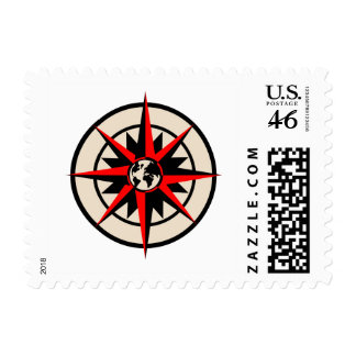 Compass Rose with Globe Postage