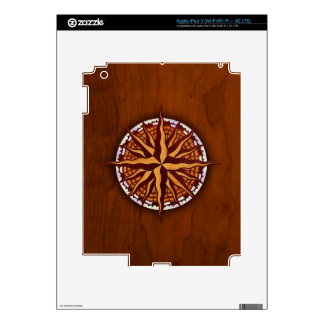 Compass Rose Wood iPad 3 Decals
