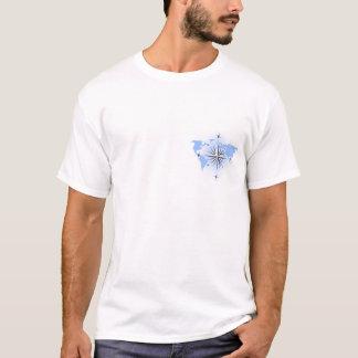 Compass Rose World Map Mens T-shirt