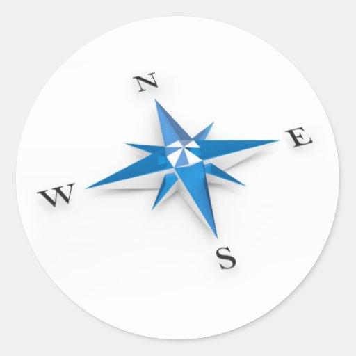 Compass Round Sticker