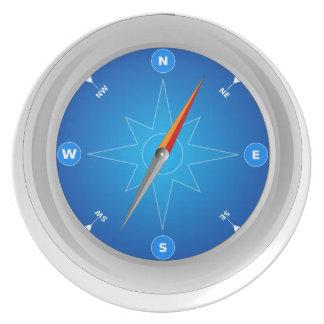 Compass Safari Navigation Dinner Plate