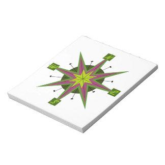 Compass Skewed Design Notepad